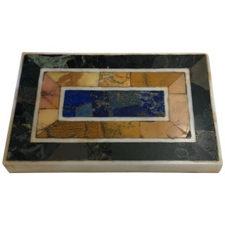 Early 20th Century Grand Tour Inlaid Marble Specimen Paperweight For Sale