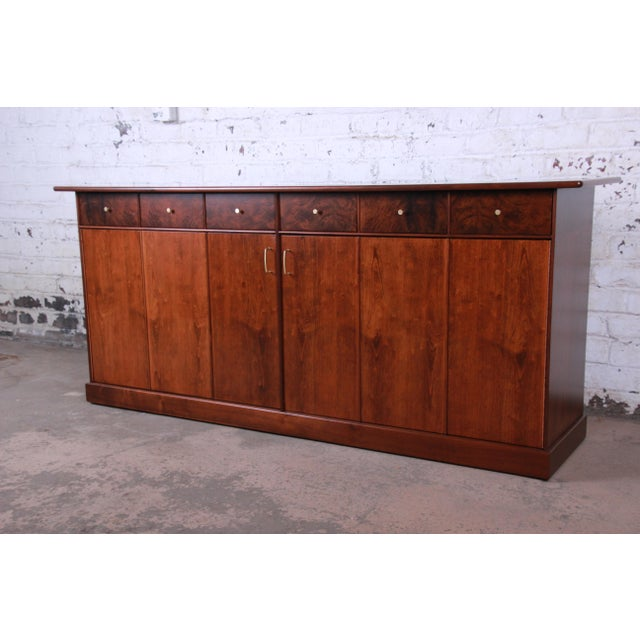 A rare and outstanding mid-century modern dresser or credenza designed by Milo Baughman for his Country Villa Collection...