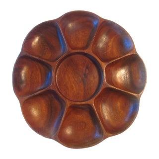 Exotic Wood Serving Platter For Sale