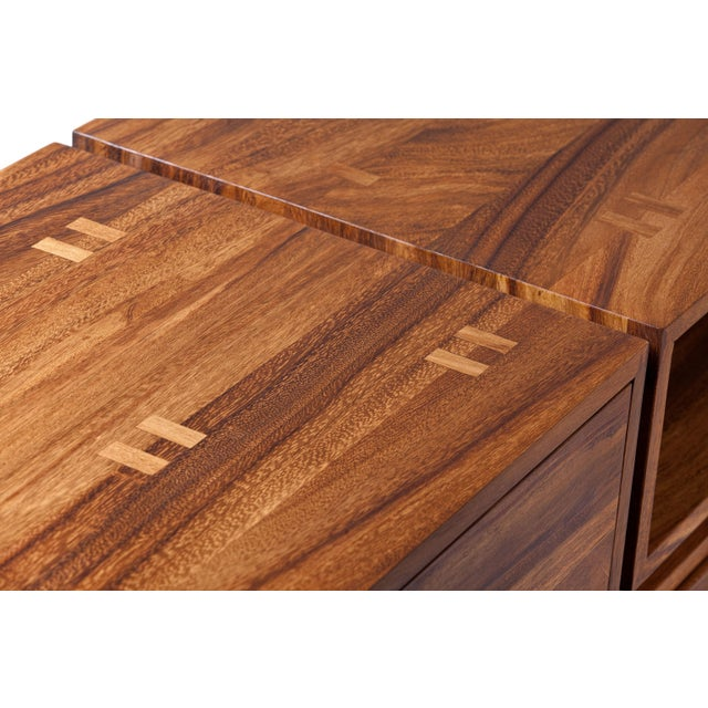 LABRICA Dd Console in Conacaste Solid Wood For Sale - Image 4 of 7