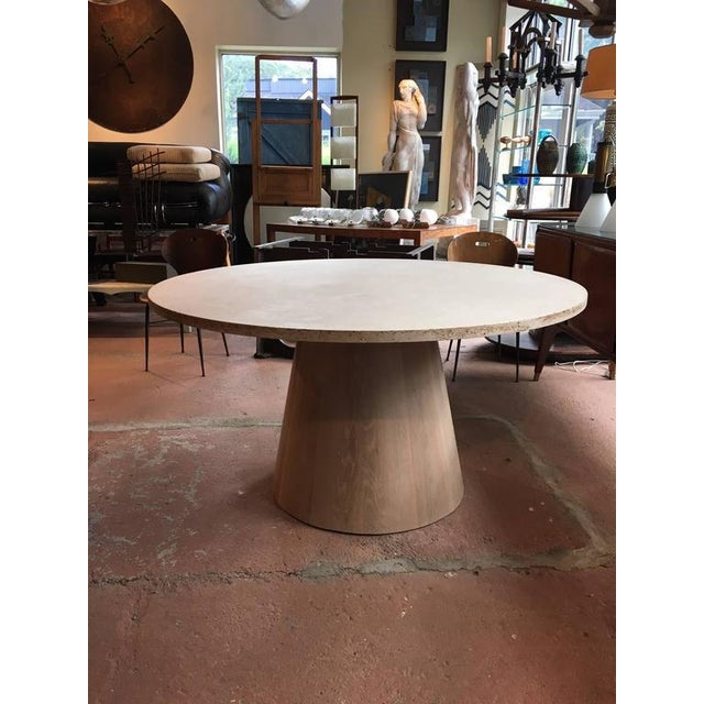 Not Yet Made - Made To Order Travertine and White Oak Center Table For Sale - Image 5 of 5