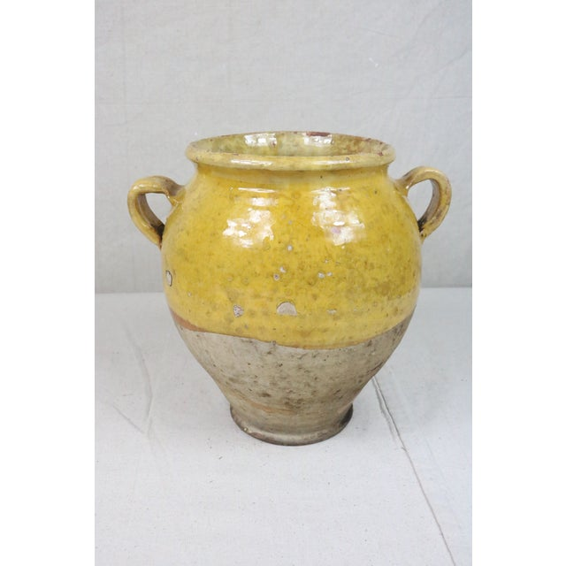 Late 19th Century Yellow Glazed French Confit Pot For Sale - Image 9 of 9
