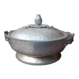Vintage Aluminum Covered Dish For Sale