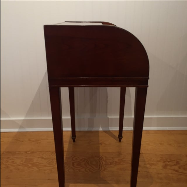 Cherry Roll Top Accent Table - Image 8 of 9