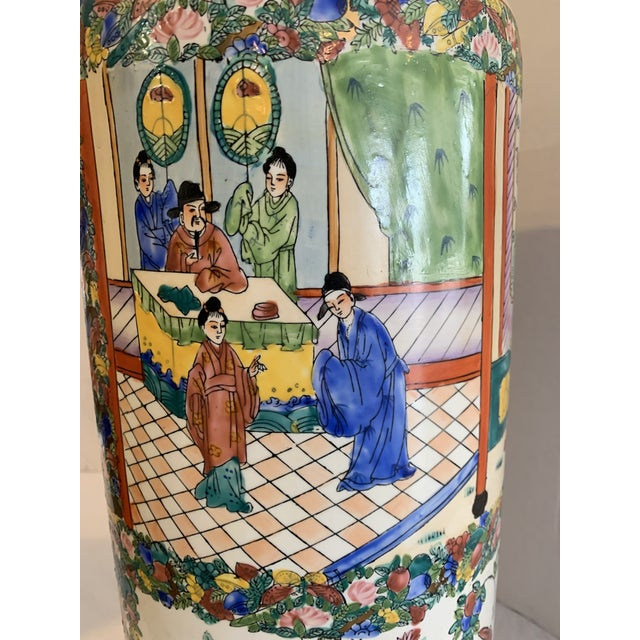 Mid 19th Century Mid 19th Century Chinese Porcelain Cane Stand For Sale - Image 5 of 9