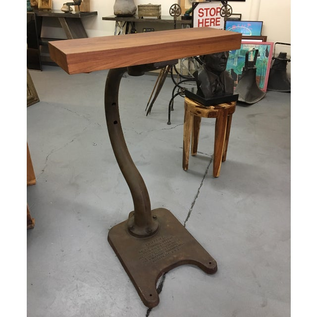 Industrial Vintage Industrial Kwikprint Gold Stamping Machine Stand For Sale - Image 3 of 8
