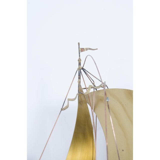 Brass Sailboat Regatta by C. Jere - Image 5 of 5
