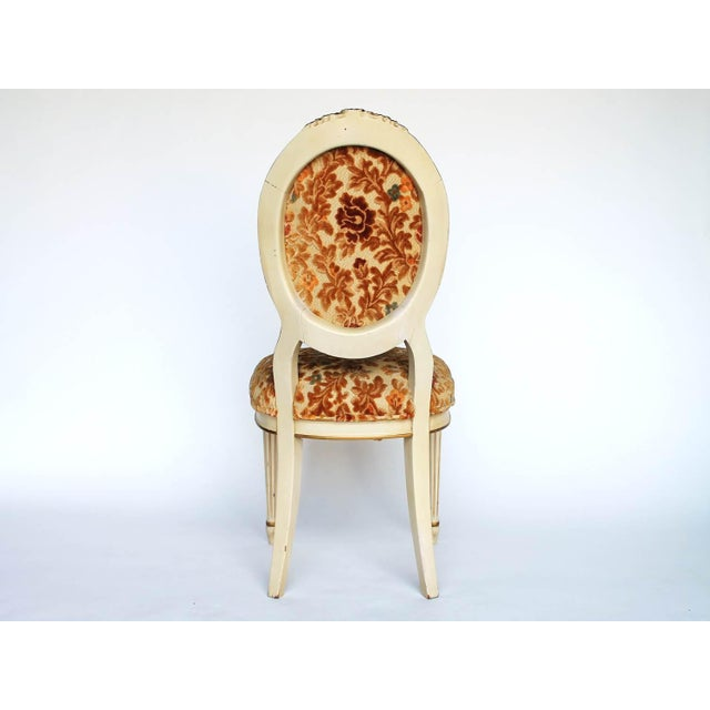 Floral Upholstered Side Chair For Sale - Image 4 of 7