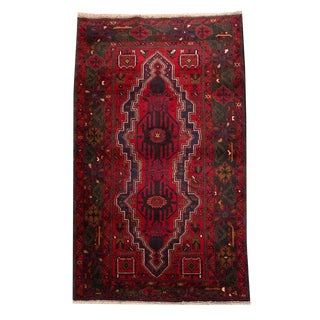 "Traditional Tribal Style Baluchi Handmade Rug - 3'8"" X 6'9"" For Sale"