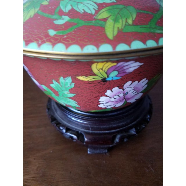 Chinese Cloisonne Bowl on Stand - Image 3 of 11