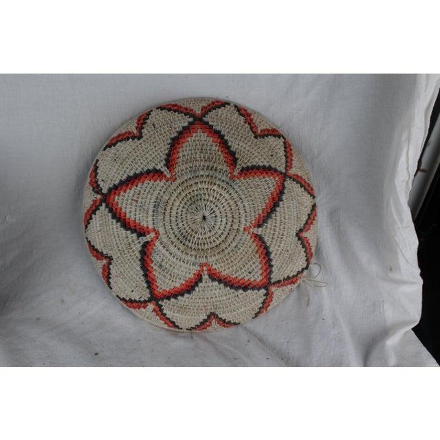 Textile Ghanian Orange Basket For Sale - Image 7 of 8