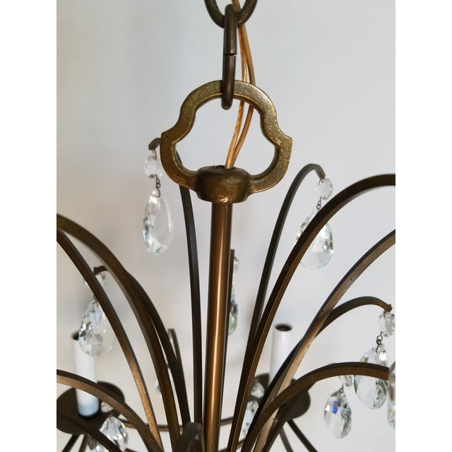 Mid-Century Modern Crystal Swedish Chandelier For Sale - Image 9 of 13