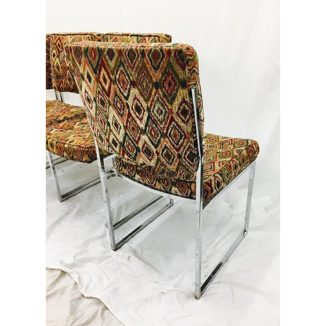 Vintage Mid-Century Modern Chrome Frame Chairs - Set of 4 For Sale - Image 10 of 11