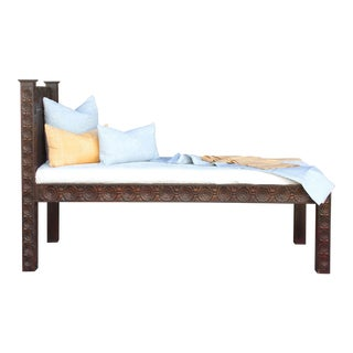 "Intricately Carved ""Dee"" Lounge Bed For Sale"