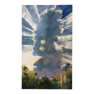 """Oil Painting on Canvas of a Great Cloud With Abstract Elements, Titled """"Arise"""" For Sale"""