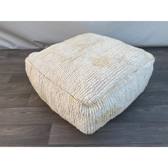 1980s Berber Moroccan Pouf Cover For Sale - Image 13 of 13