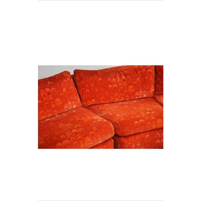 Orange Metropolitan 3 Pc. Sectional Sofa in Jack Lenor Larsen Velvet For Sale - Image 8 of 10