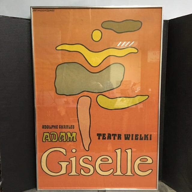 "1968 ""Giselle"" Ballet Poster by Jan Młodożeniec, Framed For Sale - Image 11 of 11"