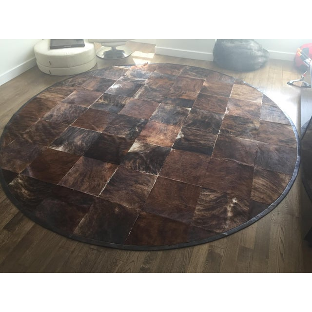 South American Hide Tile Rug - 11′ × 11′ - Image 2 of 4