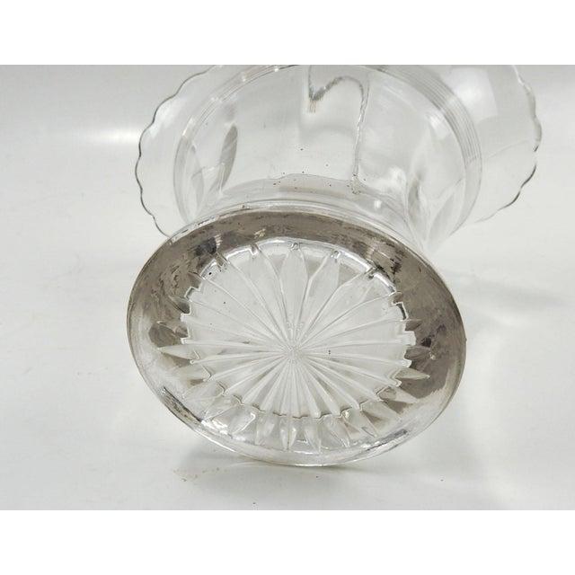 Antique Glass Basket Vase For Sale - Image 4 of 6