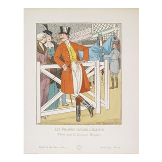 1914 Gazette du Bon Ton Fashion Plate, Propos Desobligeants For Sale