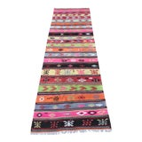 "Image of Vintage Anatolian Long Kilim Runner-3'8""x11'4"" For Sale"