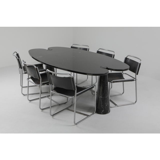 Black 1970s Mangiarotti Black Marble Dining Table for Skipper For Sale - Image 8 of 12