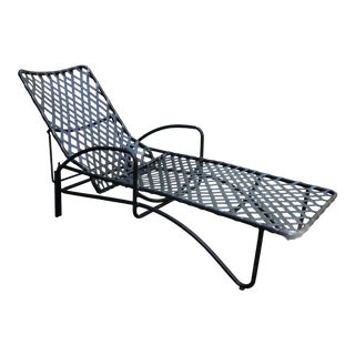 Vintage Brown Jordan Lido Chaise Lounge in Black For Sale