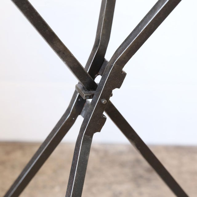 Modern Hand-Forged Iron Guéridon with Tripod Base For Sale - Image 3 of 6