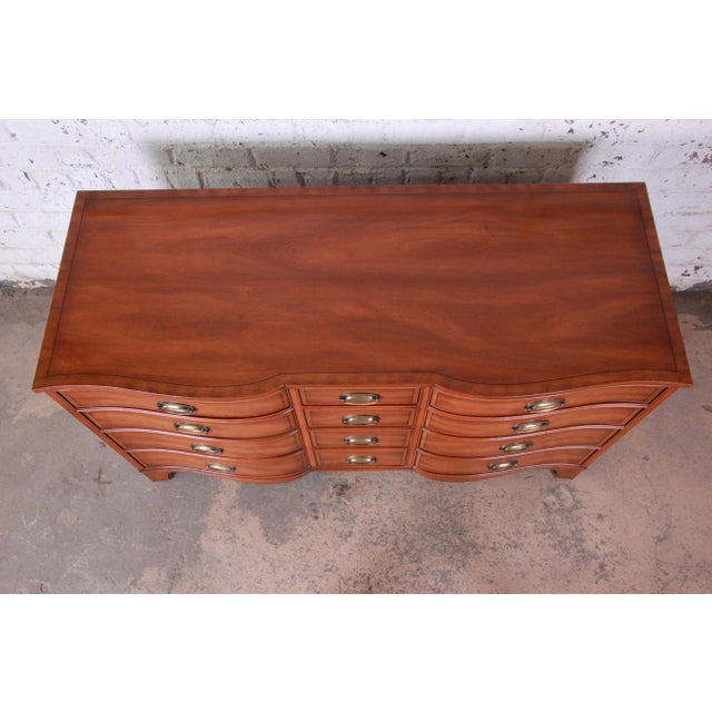 Mid 20th Century Heritage Henredon Inlaid Mahogany Twelve-Drawer Long Dresser For Sale - Image 5 of 9