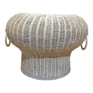 1960s Rattan Mushroom Footstool For Sale