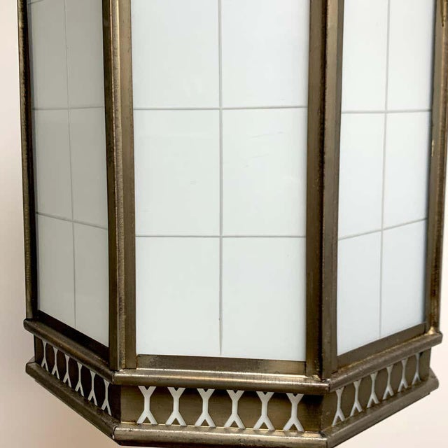 Art Deco Octagon Lantern From the El Cid Theatre, Los Angles For Sale - Image 4 of 11