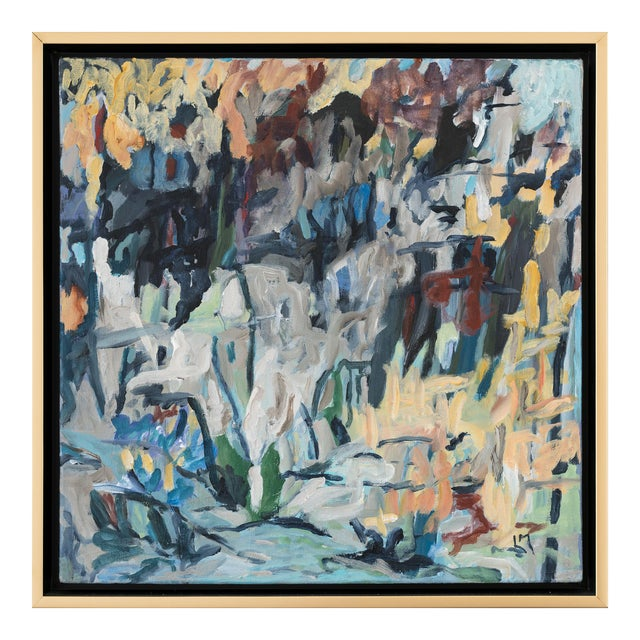 """Laurie MacMillan """"Great Outdoors"""" Abstract Painting, Framed For Sale"""