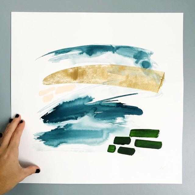"Beth Winterburn Abstract - ""Adventuring"" - Image 2 of 3"