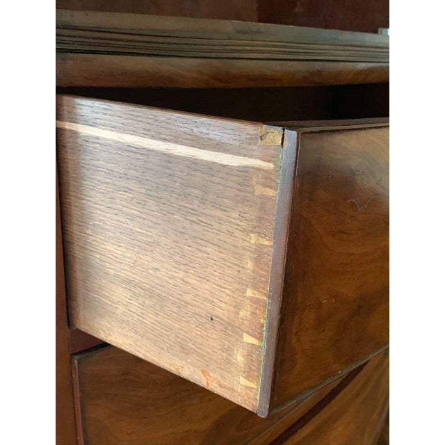 American Bow Front Linen Press For Sale - Image 9 of 11