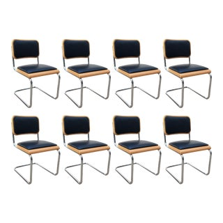 Marcel Breuer Cesca Chairs, Made in Italy - Set of 8 For Sale