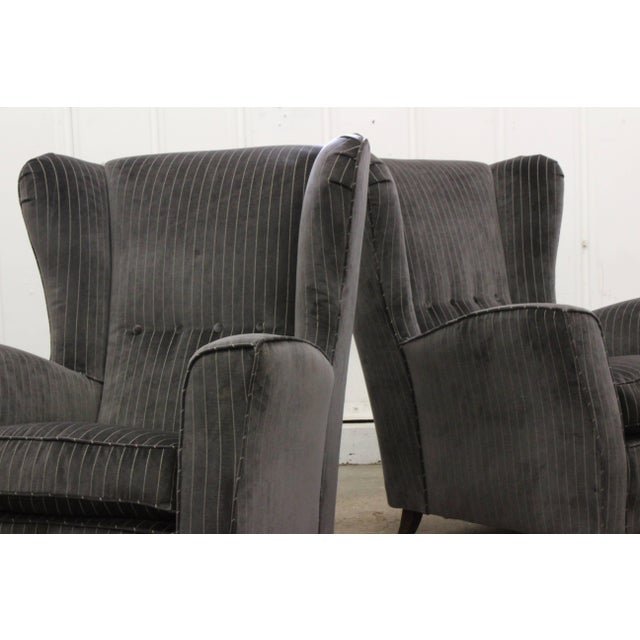 Textile Pair of Armchairs by Paolo Buffa, Italy, 1950s For Sale - Image 7 of 11