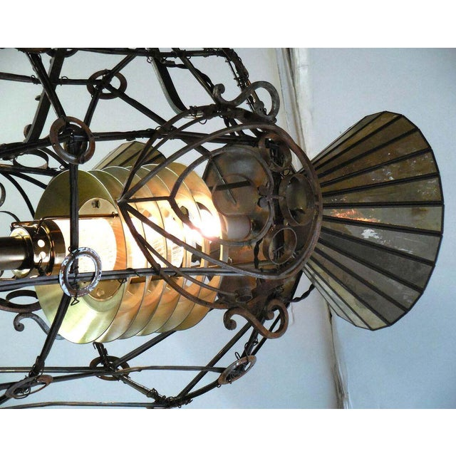 Steampunk Rocket Chandelier For Sale In Los Angeles - Image 6 of 10