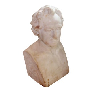 Johann Wolfgang Von Goethe Marble Bust Statue For Sale