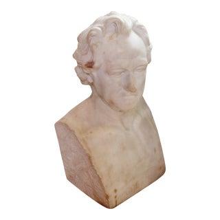 Johann Wolfgang Von Goethe Marble Bust Statue