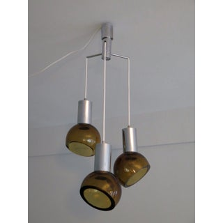 1960s Seguso Chandelier Amber Colored Glass Preview