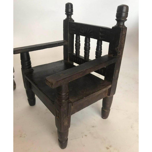 Antique Guatemalan Children's Chairs For Sale In Los Angeles - Image 6 ... - Incredible Antique Guatemalan Children's Chairs DECASO