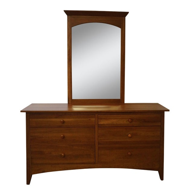 Ethan Allen New Impressions Solid Cherry Dresser With Mirror - Image 1 of 10