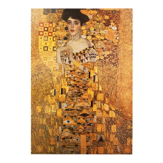 "1994 Gustav Klimt ""Portrait of Adele Bloch-Bauer"" First German Edition Large Poster For Sale"