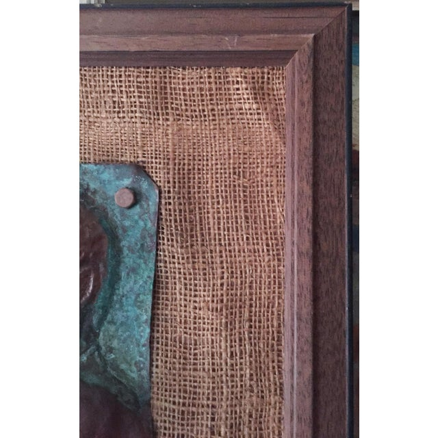 Mid-Century Nude Woman Copper Relief Art For Sale In New York - Image 6 of 8