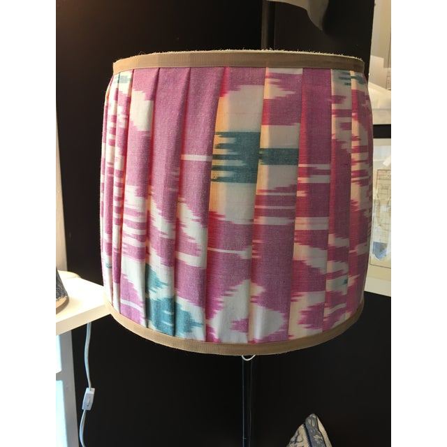 Mary Jane McCarty Collection Ikat Lampshade For Sale - Image 4 of 4