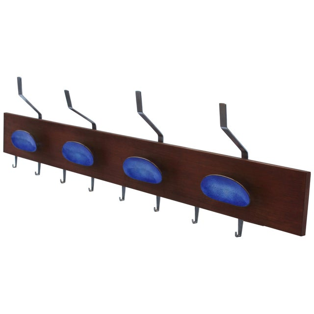 Paolo De Poli Attributed Enamel Coat Rack For Sale - Image 11 of 11