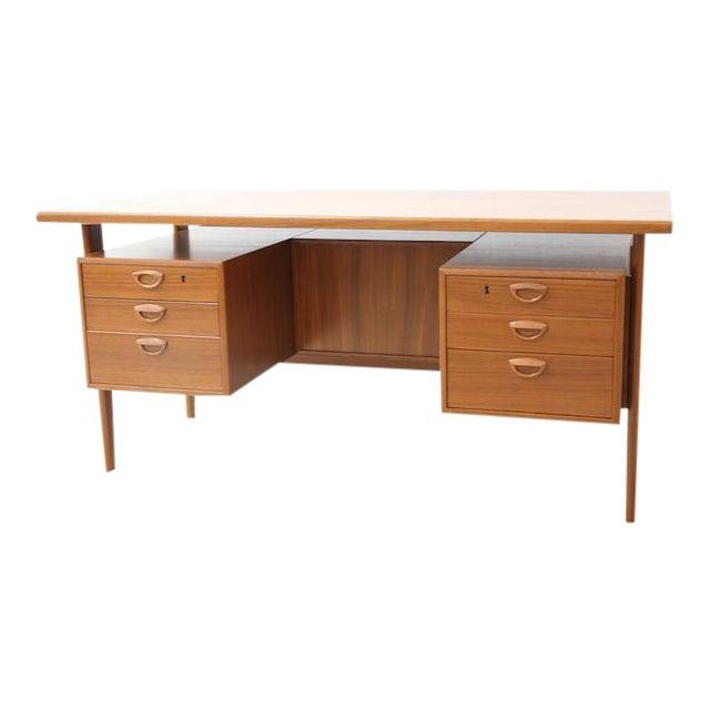 Danish Executive Floating Drawer Desk by Kai Kristiansen For Sale