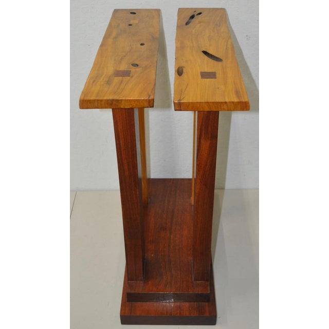 Dia Ates Hardwood Pedestal For Sale - Image 4 of 8