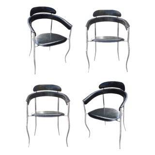 Italian Stiletto Architectural Chairs by Arrben- Set fo 4 For Sale